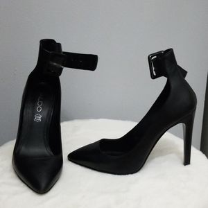 Black leather heels (ALDO)